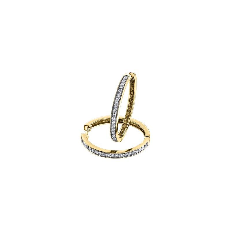The Collection Diamond Huggie Earrings