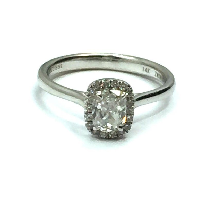 Henri Daussi Halo Engagement Ring