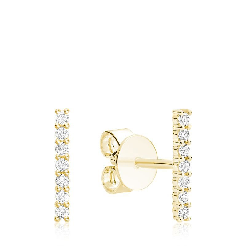 RNB Bijoux Jewellery Diamond Bar Stud Earrings