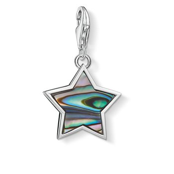 Charm Pendant Star Mother Of Pearl Turquoise