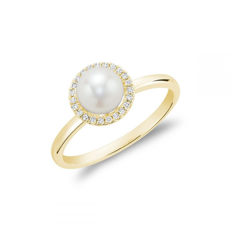RNB Bijoux Jewellery Freshwater Pearl & Diamond Ring