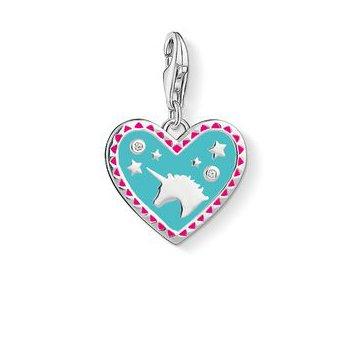 Heart With Unicorn Charm