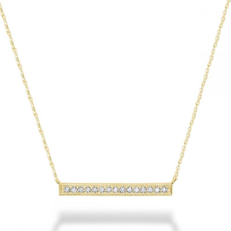 RNB Bijoux Jewellery Bar Diamond Milgrain Necklace