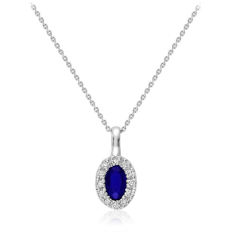 RNB Bijoux Jewellery Sapphire and Diamond Pendant