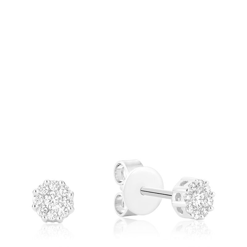 RNB Bijoux Jewellery Diamond Flower Stud Earrings