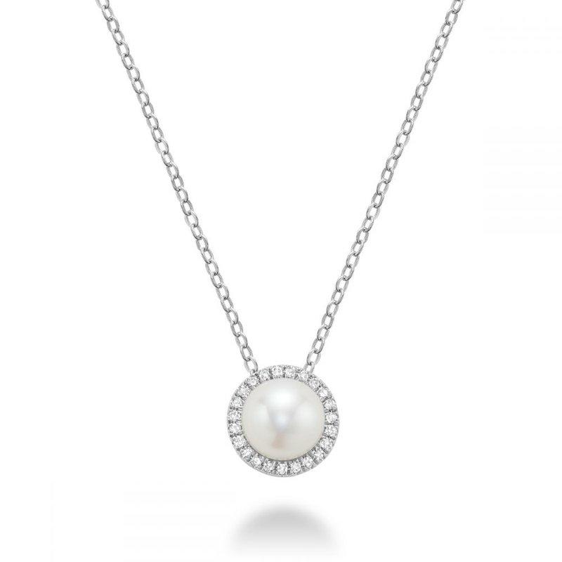 RNB Bijoux Jewellery Freshwater Pearl & Diamond Pendant