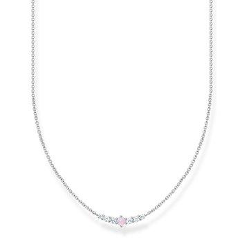 Necklace Vintage Shimmering Pink Opal-Coloured Stone