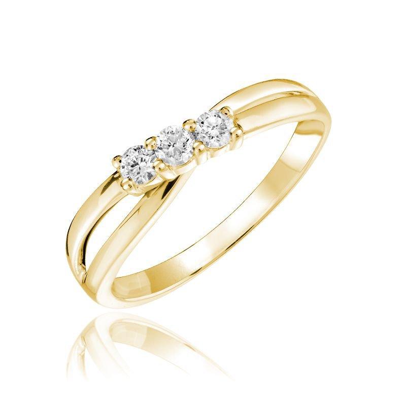 RNB Bijoux Jewellery Three Stone Solitaire Fashion Ring