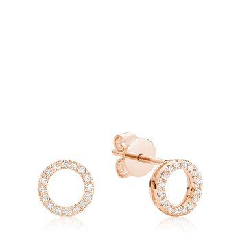 Circle of Life Diamond Stud Earrings