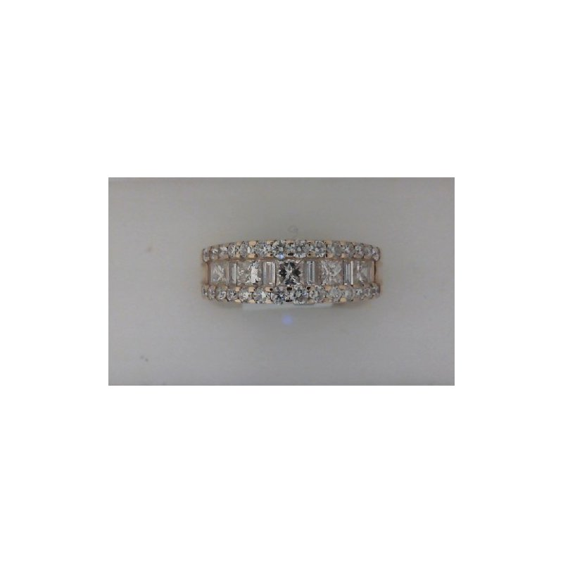 RNB Bijoux Jewellery Wide Channel Set Princess Cut Diamond Wedding Band