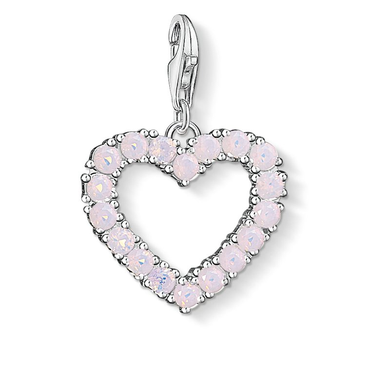 Thomas Sabo Charm Pendant Heart With Hot Pink Stones