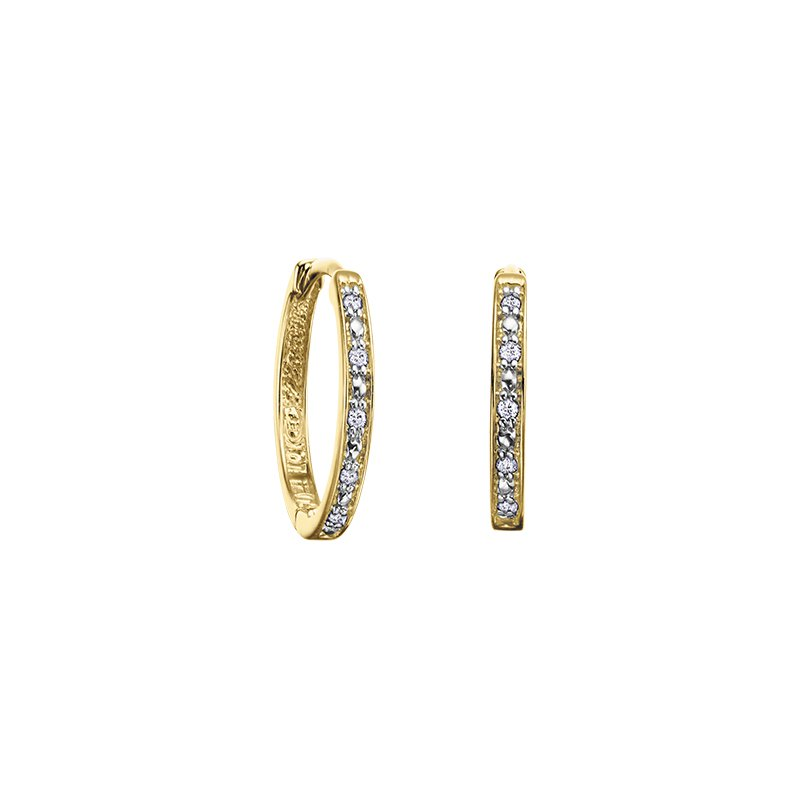 The Collection Diamond Huggie Earring