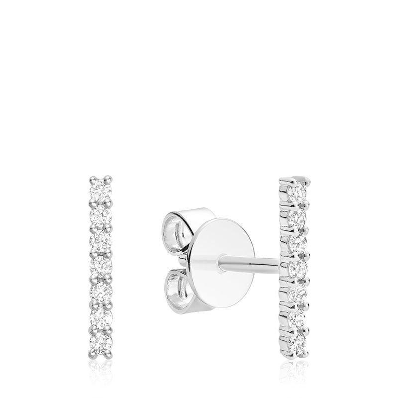 RNB Bijoux Jewellery 14K Diamond Bar Stud Earrings