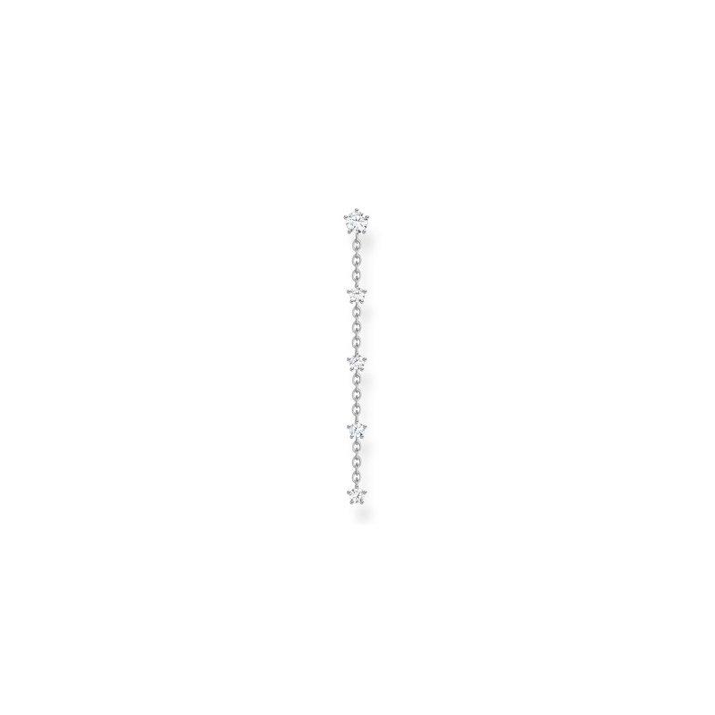 Thomas Sabo Single Dangle Earring Silver Zirconia