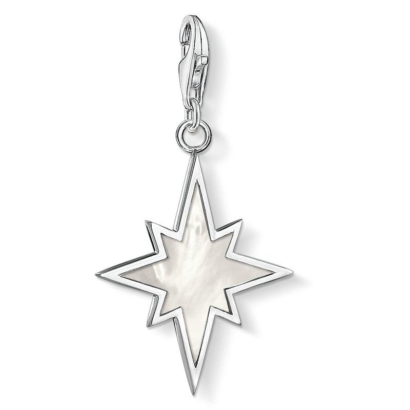 Thomas Sabo Charm Pendant Star Mother Of Pearl