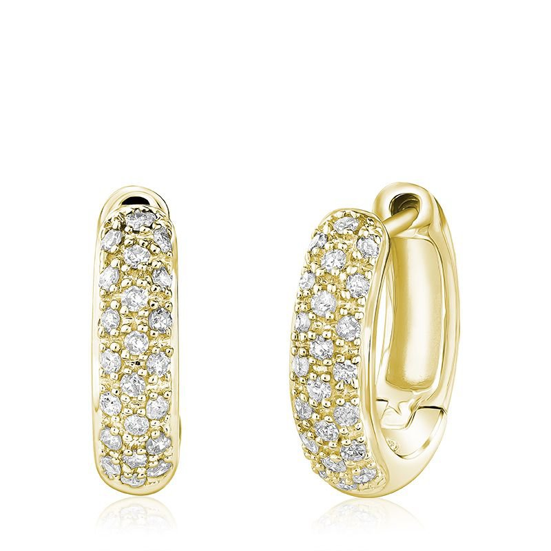 RNB Bijoux Jewellery Diamond Pave Huggie Earrings