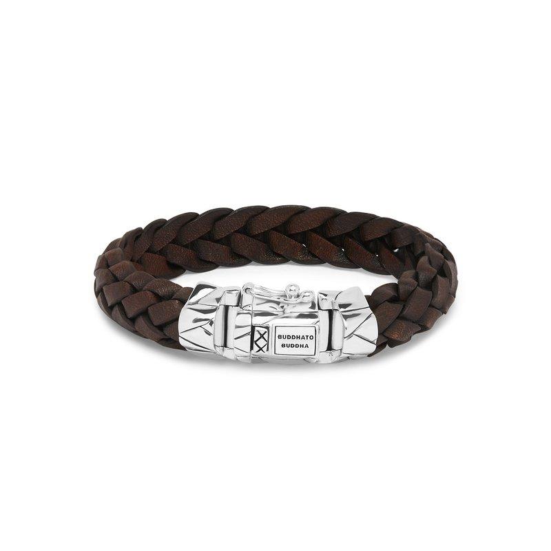 Buddha to Buddha Mangky Brown Leather Bracelet