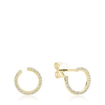 Diamond Curl Stud Earrings