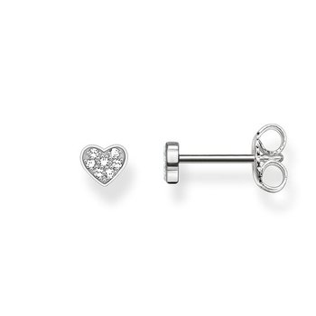 Heart Pave Earrings