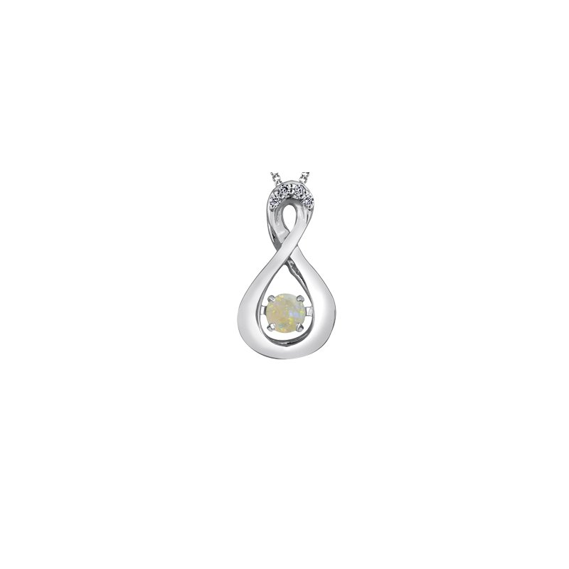 The Collection Opal and Diamond Pulse Pendant