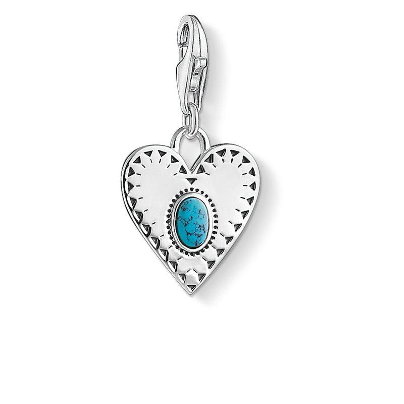 Thomas Sabo Charm Pendant Heart Turquoise Stone
