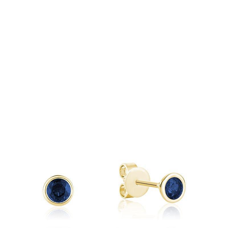 RNB Bijoux Jewellery Bezel Set Sapphire Earrings