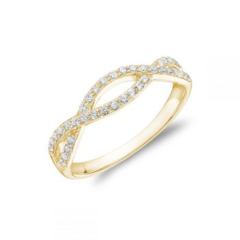 Pave Twist Diamond Ring