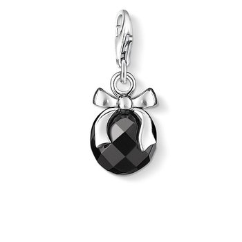 Charm Pendant Bow With Stone