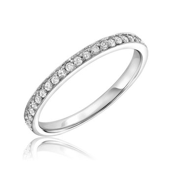 Pavé Milgrain Diamond Ring