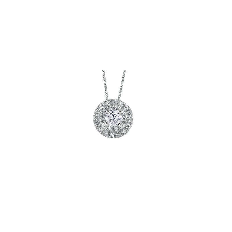 The Collection Diamond Cluster Pendant