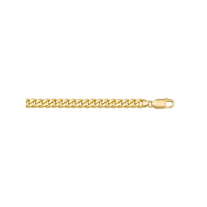 The Collection Solid Flat Beveled Link Chain