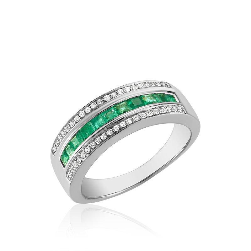 RNB Bijoux Jewellery Emerald & Diamond Ring