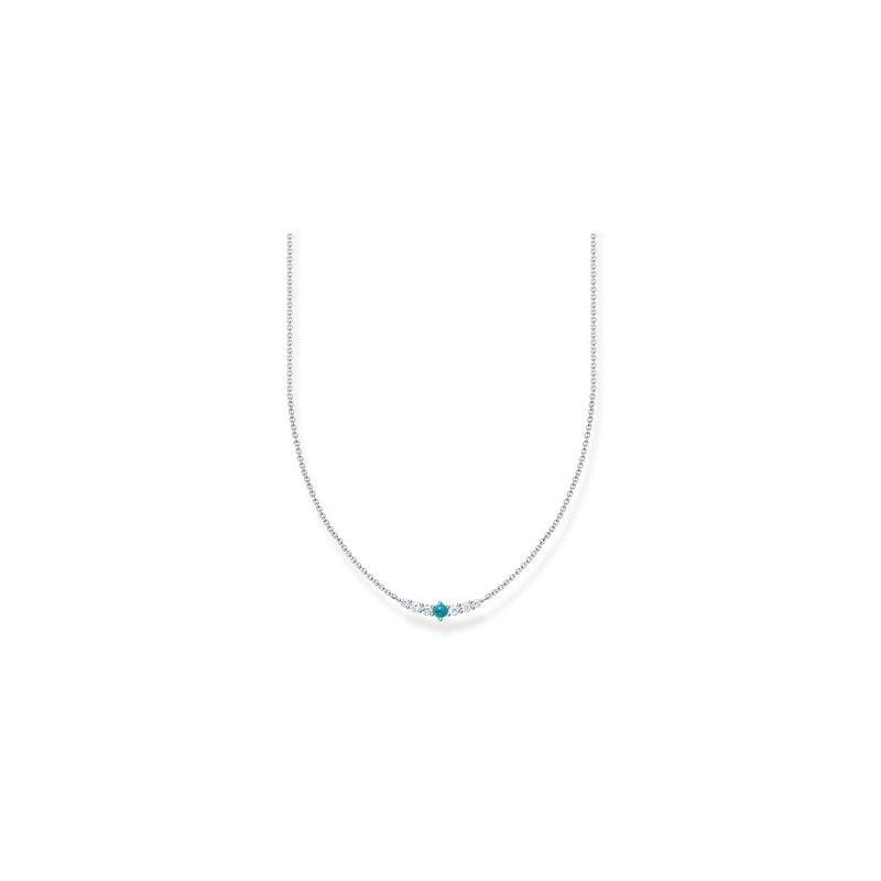Thomas Sabo Necklace Silver Turquoise Zirconia