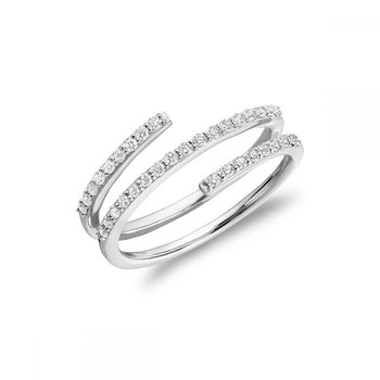 Linear Double Wrap Diamond Ring