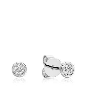 Round Cluster Diamond Stud Earrings