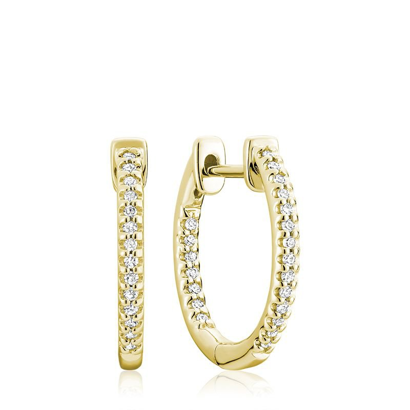 RNB Bijoux Jewellery Inside-Out Pave Diamond Hoop Earrings