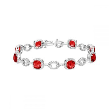 Created Ruby and Diamond Bracelet