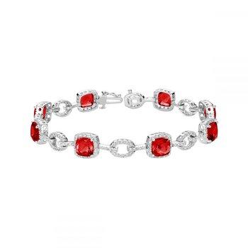 Created Ruby and Diamond Bracelet