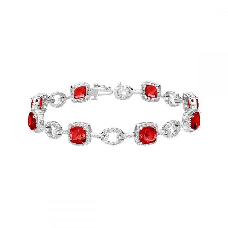 RNB Bijoux Jewellery Created Ruby and Diamond Bracelet