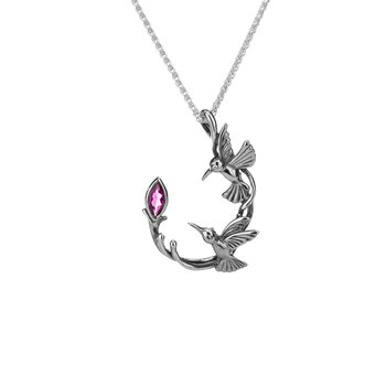 Double Hummingbird Pendant