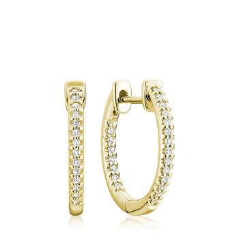 Inside-Out Pave Diamond Hoop Earrings