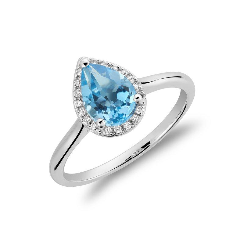 RNB Bijoux Jewellery Blue Topaz And Diamond Ring