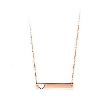 Bella Collection Heart Bar Necklace