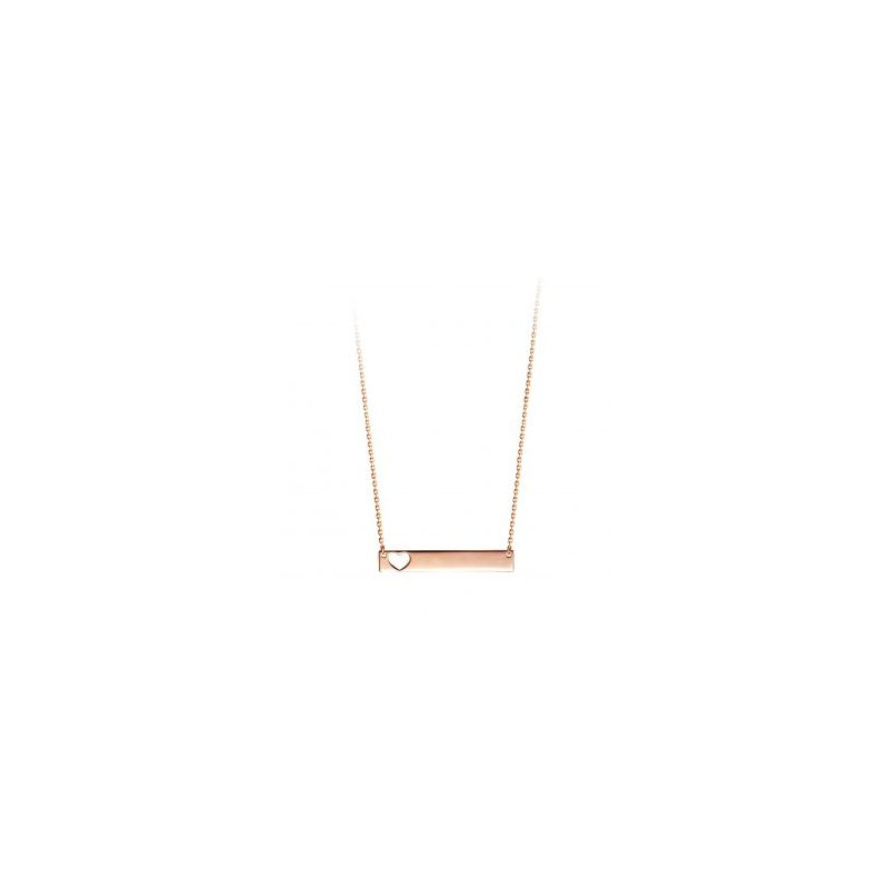 The  Collection Bella Collection Heart Bar Necklace