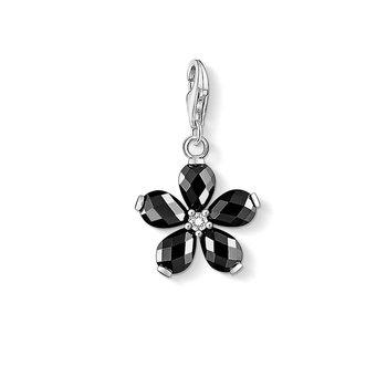 Black Flower Charm