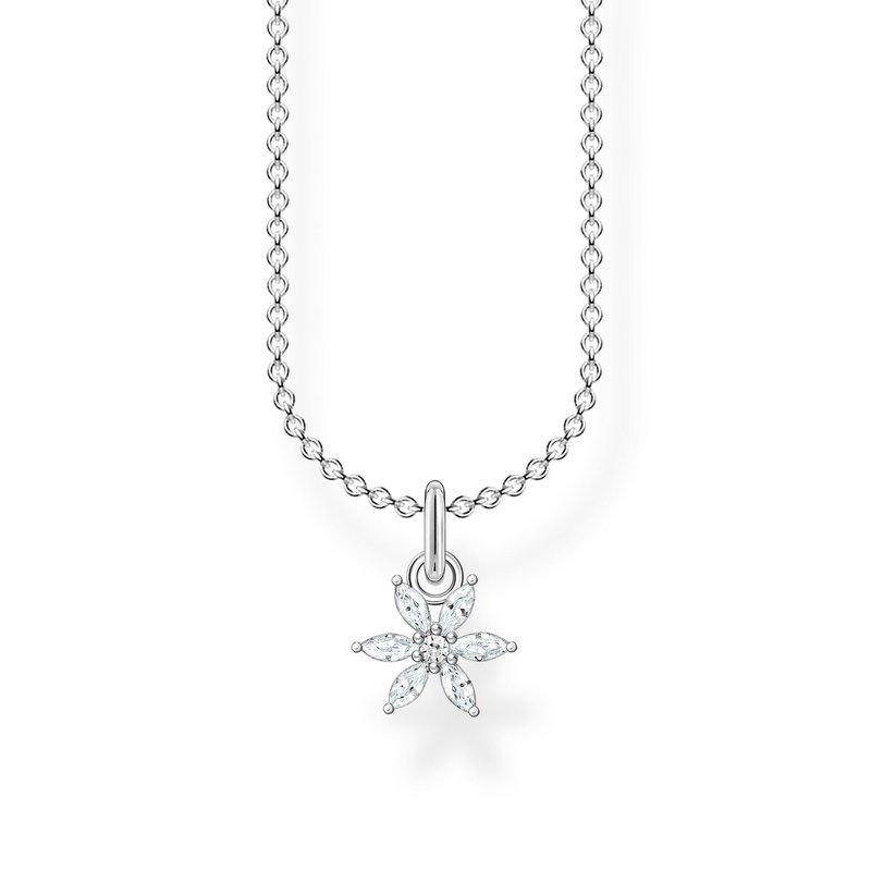 Thomas Sabo Necklace Flower White Stones
