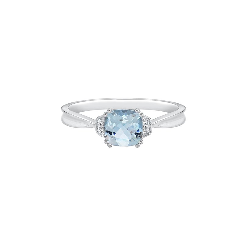 The Collection Aquamarine And Diamond Ring