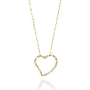 Asymmetrical Diamond Heart Pendant