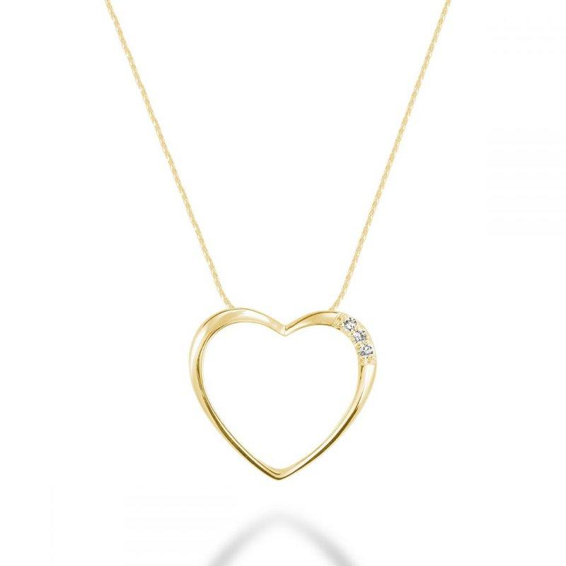 RNB Bijoux Jewellery Diamond Heart Pendant