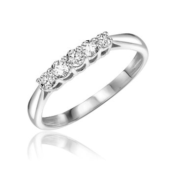 Five Stone Solitaire Diamond Ring